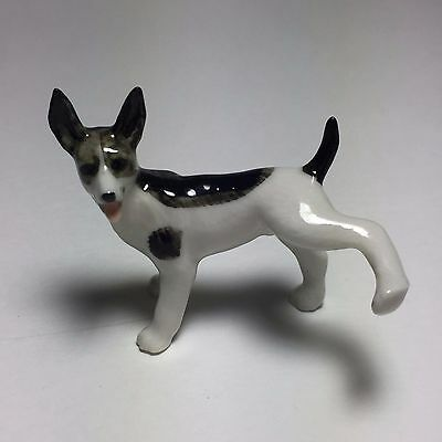 New Fun Puppy White Dog Ceramic Figurine Miniature Collectible Animals Dollhouse