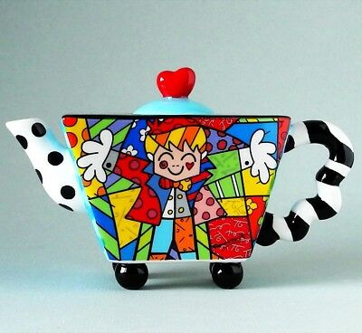 "ROMERO BRITTO - POP ART ""THE HUG"" Mini Teekanne N°333308 TEA FOR ONE - NEU !!"