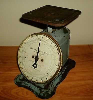 Antique Columbia Family Scale 24 Lbs Industrial Metal1907 Landers, Frary & Clark