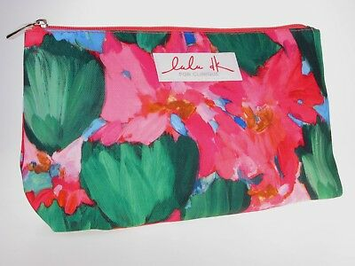 CLINIQUE Pink LuLu dk Cosmetic Make up Bag Case Travel Toiletry ~ Free P/P
