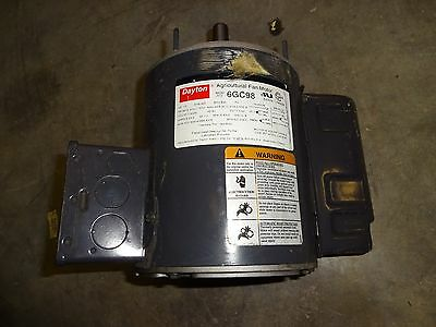 Dayton 6Gc98 Agriculture Fan Motor 1/2 Hp 825 Rpm 1 Phase 115/230V 60Hz Used