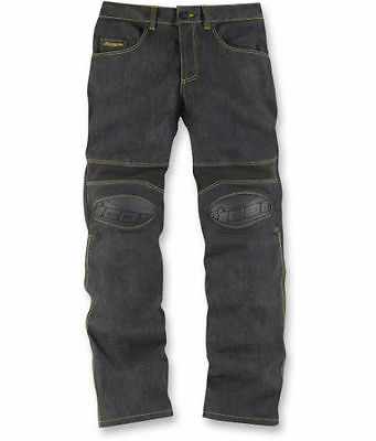 Icon Overlord Riding Aramid Fibre Motorcycle Motorbike Jeans Trousers   Blue