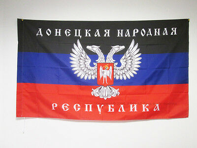 DONETSK PEOPLE'S REPUBLIC FLAG 3' x 5' for a pole - DPR - DNR FLAGS 90 x 150 cm