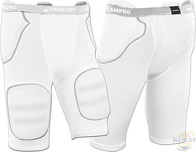 NEW Champro Sports Rush 5 Pad Integrated Youth Boy's Football Girdle FPGU1Y