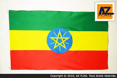 ETHIOPIA WITH LION FLAG 2' x 3' - LION OF JUDAH ETHIOPIAN
