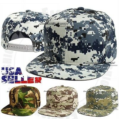 Baseball Cap Camouflage Tactical Snapback Adjustable Hat CAMO Flat Army Men Hats
