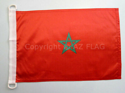 MOROCCO NAUTICAL FLAG 18'' x 12'' - MOROCCAN FLAGS 30 x 45 cm - BANNER 12x18 in