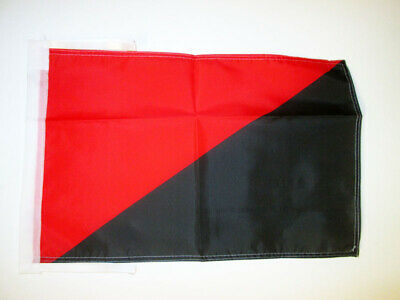 ANARCHO SYNDICALISM MOVEMENT FLAG 18'' x 12'' cords - ANARCHO-SYNDICALIST SMALL