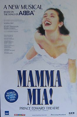 "40x60"" HUGE SUBWAY POSTER~Mamma Mia 1999 Ft. Abba Prince Edward Theatre Original"