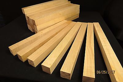 """Curly Maple Lumber 1 1/2"""" X 18"""" Turning Stock Cues Calls Stoppers Scales!!!!!!"""