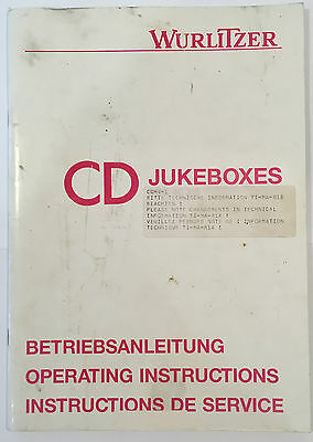 Jukebox Manual Wurlitzer Operating Instructions Cd Jukeboxes Scc40315