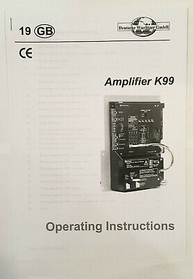 Jukebox Manual Wurlitzer Amplifier K99 Operating Instructions