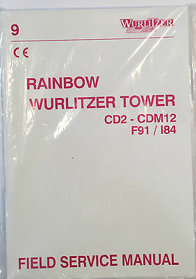 Jukebox Manual Rainbow Wurlitzer Tower Service Manual Cd2 - Cdm12 F91 / I84