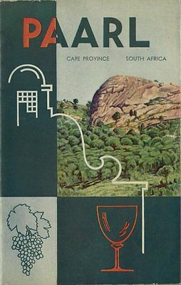 1950's Tourist Booklet - PAARL - Cape Province South Africa