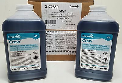 New Diversey CREW Bathroom Cleaner / Scale Remover 2 x 2.5L  3173650