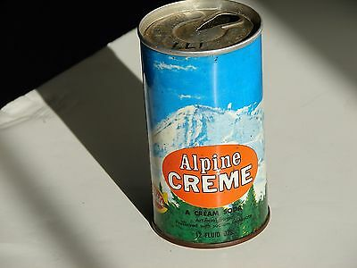 Canfield's Alpine Creme;  A. J. Canfield Co Chicago, IL; steel soda pop can 1972