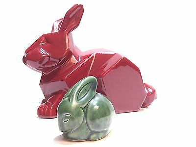 Modern Abstract Red Rabbit Pottery Art Mold Piece