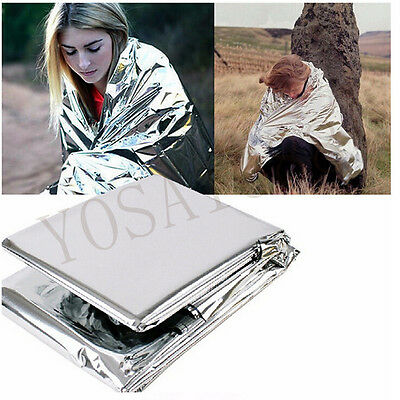Camping Portable Emergency Blanket Outdoor Survival Kit Rescue Insulation Curtai
