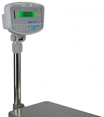 "Adam Equipment GBk 130A Bench Scale,130 X0.05 lb,Checkweighing,Plate 16""X12"",New"