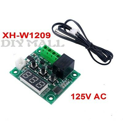 DC12V Thermostat Smart Cooling Heating Temperature Controller Switch Sensor