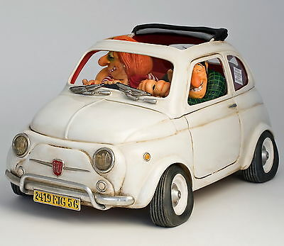 "GUILLERMO FORCHINO - Comic Art Skulptur - ""FIAT 500 - LITTLE JEWEL"" - FO85065"