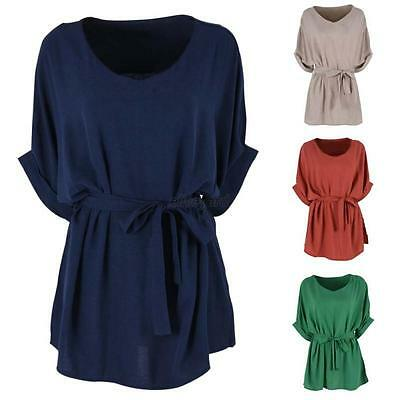 Plus Size Women Summer Loose Tops Batwing Short Sleeve T Shirt Casual Blouse Tee