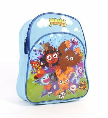 New Moshi Monsters Poppet And Friends Backpack Rucksack School Bag In Blue