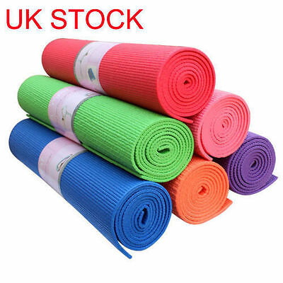 Thick roll non slip ribbed yoga camping pilates gym exercise foam Workout mat UK
