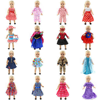 "Hot~ Fits 18"" American Girl Madame Alexander Handmade fashion Doll Clothes dress"