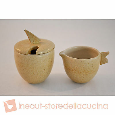 Zuccheriera e lattiera in ceramica colorata design idea regalo set da caffe the