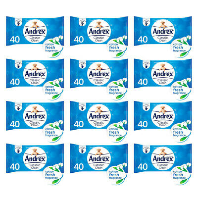 Andrex Hygenic Washlets 40's Flushable & Pre-Moistened Tissues from £1.31 Each
