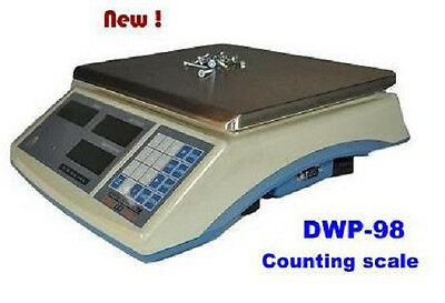 """Digiweigh DWP-98 Precision Counting Scale,12 X 0.0002LB, Plate size 11.5""""X9"""",New"""