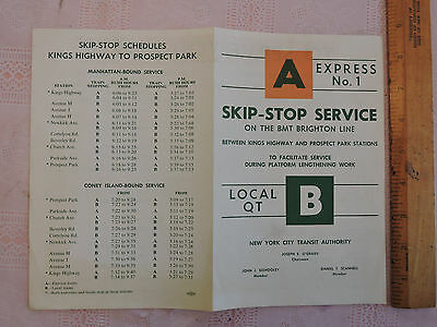 RARE 1964 NYC New York City NYC  BROOKLYN ! Subway NOTICE Kings Highway BMT LINE