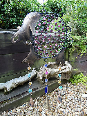 Hand Made Indian Metal Iron Elephant Bells Beads Garden Wind Chime Mobile