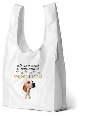 English Pointer Dog Printed Design Eco-Friendly Foldable Shopping Bag BEPOINTER1