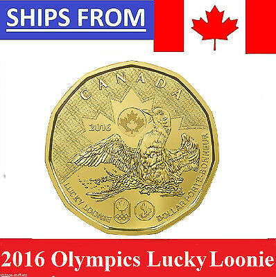 [IN HAND NOT FROM ROLLS ] 2016 Canada $1 Rio Olympics Lucky Loonie Uncirculated