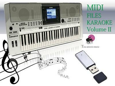 MIDI File Karaoke USB stick for PSR S910  NEW Volume 2