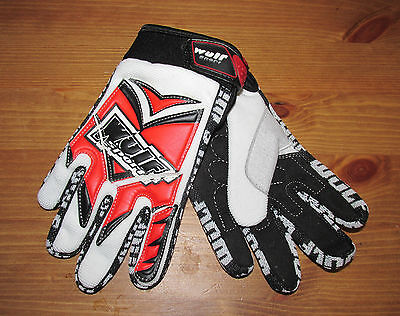 Kids Childrens Quad Wulf Wulfsport Childs MX Motorcross Air 5 Glove Red - T