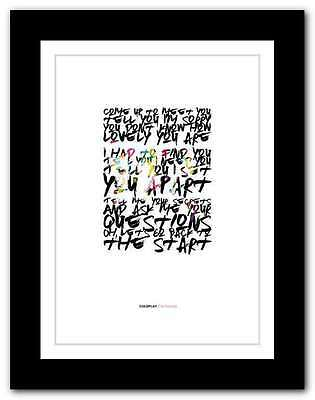 ❤ COLDPLAY  The Scientist ❤ song lyrics poster art edition typography print #18