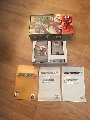 Star Fox 64 Nintendo 64 N64 Cib Game W Rumble Pack Works NC1