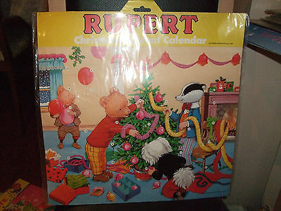 Large Vintage Rupert Christmas Advent Calendar 1988 New/sealed