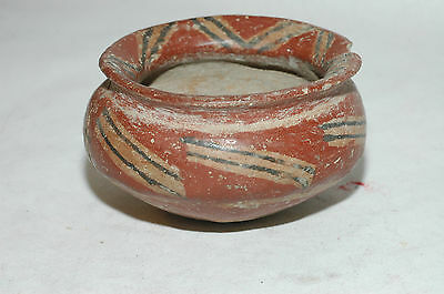 Pre-Columbian Chupicuaro.Red on black Pottery Bowl 800-1500A.D. CAA-204