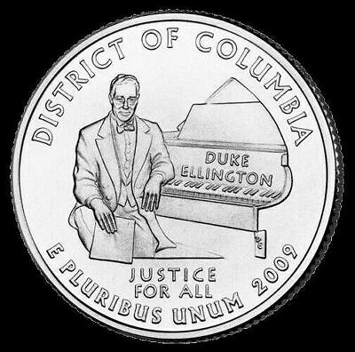 "2009 D District of Columbia Territorial Quarter New U.S. Mint ""BU"" Coin D.C."