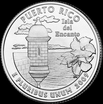 "2009 P Puerto Rico Territorial Quarter U.S. Mint ""Brilliant Uncirculated"" Coin"