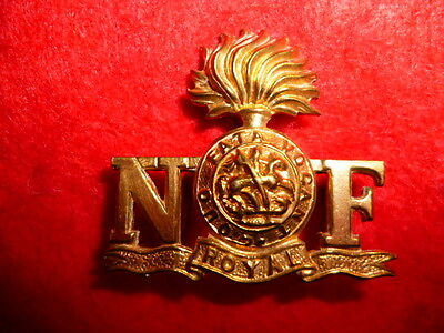 The Northumberland Fusiliers Brass Shoulder Title, Westlake 767