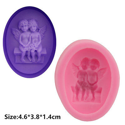 2 Pcs Packed Angel Silicone Cake Mould Sugar Craft Chocolate Decorating Tools