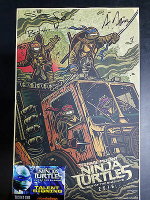 Teenage Mutant Ninja Turtles Signed Poster Wonder Con 2016