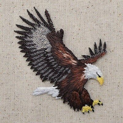 Medium Bald Eagle Landing Patriotic/American Iron on Applique/Embroidered Patch