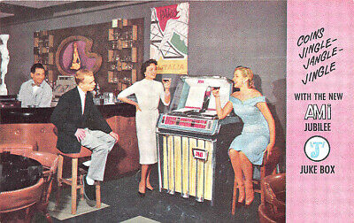 Grand Rapids MI AMI Jubilee Juke Box Advertising Rare Postcard