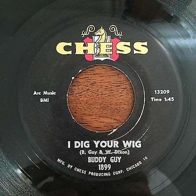 BUDDY GUY: I Dig Your Wig / My Time After Awhile 45 rare Soul Chess 1899 VG